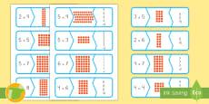 * NEW *Tarjetas de emparejar: Puzle de multiplicación
