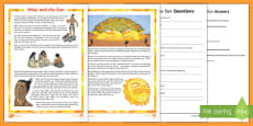 Māui and the Sun Differentiated Reading Comprehension Activity