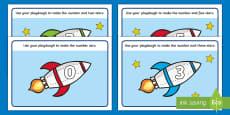 Rocket Playdough Mat (1-10)