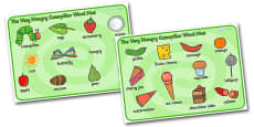 Word Mat (Images) to Support Teaching on The Very Hungry Caterpillar