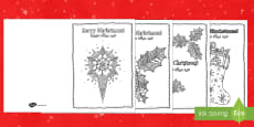 Mindfulness Colouring Christmas Cards Arabic/English