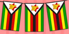 Zimbabwe Flag Display Bunting