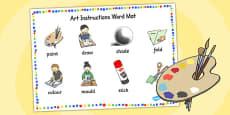 Art Instructions Word Mat