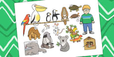 Story Cut Outs to Support Teaching on The Great Pet Sale