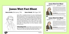 Scottish Significant Individuals James Watt Fact Sheet
