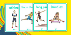 The Olympics Athletics Display Posters