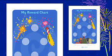 Bonfire Night Sticker Reward Chart (30mm)
