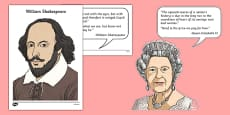 Famous Britons Cut Outs and Quotes