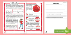 KS1 Comic Relief (Red Nose Day) Differentiated Reading Comprehension Activity