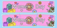 Women's Day Display Banner