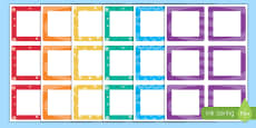 Multicolour Square Peg Labels