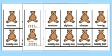 Teddy Bear Number Ordering Cards