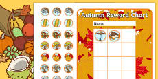 Autumn Sticker Reward Chart 30mm