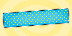 Editable Banner Blue With Yellow Stars
