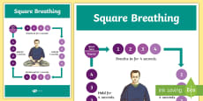 Square Breathing Display Poster