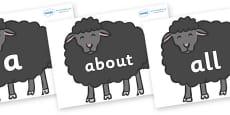 100 High Frequency Words on Baa Baa Black Sheep