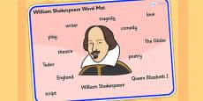 William Shakespeare Word Mat