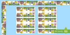 Floral Display Borders