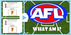 AFL Australian Football League What Am I PowerPoint
