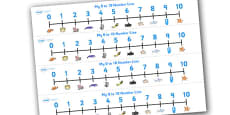 Under the Sea Number Line (0-10)