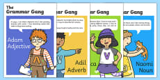Grammar Gang Character Display Posters
