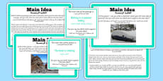 Guided Reading Skills Task Cards Main Idea Arabic Translation