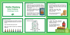 Year 6 Calculation Solve Problems Maths Mastery Challenge Cards