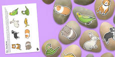 Pets Story Stones Image Cut-Outs