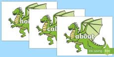 100 High Frequency Words on Dragons