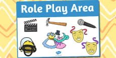 Role Play Area Sign