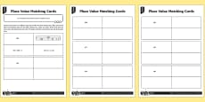 * NEW * Place Value Three-Digit Numbers Differentiated Matching Cards