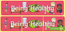 Being Healthy Display Banner