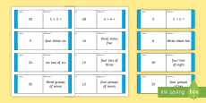 Loop Cards 3 and 4 Times Tables