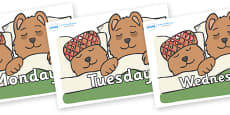 Days of the Week on Mummy & Daddy Bear