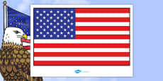 USA Flag Display Poster