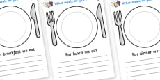 Meal Time Writing Templates (A4)