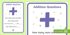 * NEW * Key Stage 1 Addition Questions Display Poster