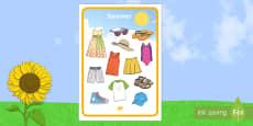 Summer Clothes Mat