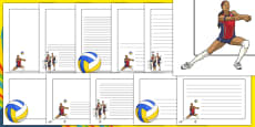 The Olympics Volleyball Page Borders