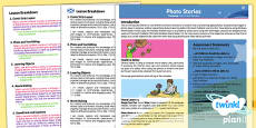 PlanIt - Computing Year 4 - Photo Stories Planning Overview CfE
