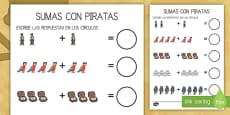 Ficha de actividad: Sumas - Piratas