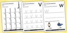 Phase 3 Letter Formation Activity Sheets