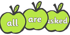 Tricky Words on Apples