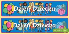 Banner na gazetkę Dzień Dziecka