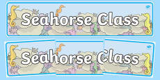 Seahorse Themed Classroom Display Banner