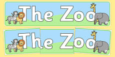 Zoo Role Play Display Banner