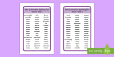 2014 Curriculum Spelling List Years 3 and 4 Tolsby