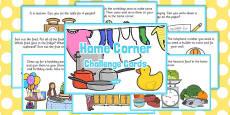 Home Corner Challenge Cards