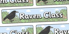 Raven Themed Classroom Display Banner