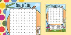 Roald Dahl Themed Wordsearch